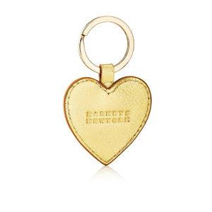 Barneys New York Leather Heart Key Chain Fob
